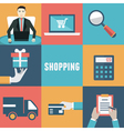 Concept of internet shopping vector image