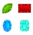 Crystals vector image
