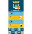 Data Protection Infographic vector image vector image
