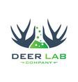 deer laboratory animal logo design your company vector image vector image
