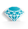 diamond icon paper vector image vector image
