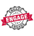 engage stamp sign seal vector image vector image