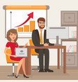 entrepreneur and personal assistant vector image vector image