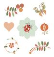 Fantasy floral designs vector image vector image