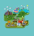 fish farming industry vector image