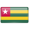 Flags Togo in the form of a magnet on refrigerator vector image