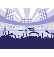 football soccer stadium scene vector image