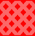 geometric pattern red vector image vector image