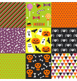 halloween set patterns vector image vector image