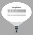 hand flashlight with a beam of light vector image vector image