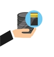 hand holds data cpu computer system vector image
