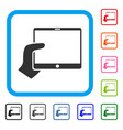 hand holds tablet framed icon vector image vector image