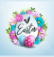 happy easter holiday design with painted and vector image vector image