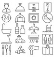 hotel service and facilities outline icon vector image vector image