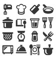 kitchen and cooking icons set on white background vector image vector image