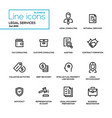 legal services - line design icons set vector image