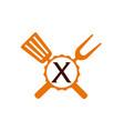 logo restaurant letter x vector image vector image