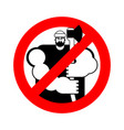 lumberjack stop sign woodcutter ban road red vector image vector image