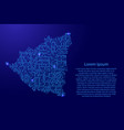 map nicaragua from printed board chip and radio vector image vector image