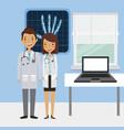 medical doctors icon vector image vector image
