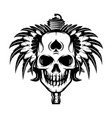 monochrome image on motorcycle theme with skull vector image