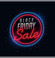 neon style black friday sale background design vector image vector image