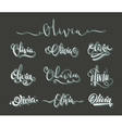 Personal name Olivia vector image vector image