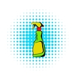 Plastic hand spray bottle icon comics style vector image vector image