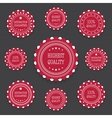 Red bages in retro style vector image vector image