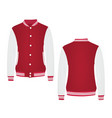 red college jacket vector image