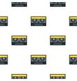 retro cassette tape pattern seamless vector image