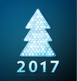retro light banner a christmas tree with 2017 new vector image vector image