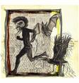 run punk run - an hand drawn freehand sketching vector image