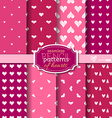 Seamless pencil patterns of hearts vector image
