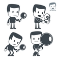 search icon man set016 vector image vector image