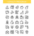 set loyalty program line icons vector image vector image