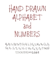 set of calligraphic acrylic or ink alphabet vector image vector image