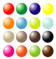 set of colored ball vector image vector image