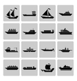Ship and Boats Icons Set vector image vector image
