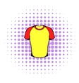 Sport shirt icon comics style vector image vector image