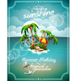 summer holiday with paradise island vector image vector image