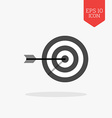 Target icon Flat design gray color symbol Modern vector image
