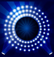 tv show backdrop with circles lights vector image vector image
