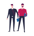 two men in office casual clothes characters vector image