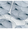 umbrella pattern with geometric background lines vector image vector image
