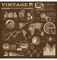 Vintage Business Infographic Elements vector image vector image