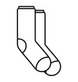 winter socks icon outline style vector image