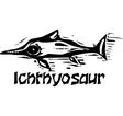 Woodcut Ichthyosaur Dinosaur vector image vector image