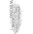 wrong blames can kill a life text word cloud vector image vector image