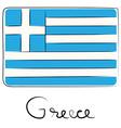 Greece doodle flag vector image